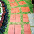 Stock Photo: Red stone walkway