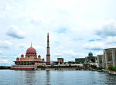 Putrajaya Floating Mosque — Stock Photo