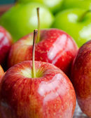 Close up red apple — Stock Photo