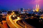 Scenery of Kuala Lumpur twin towers — Stock Photo