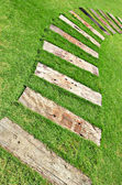 Wood walkway — Stock Photo
