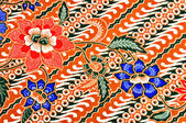 Javanese batik pattern — Stock Photo