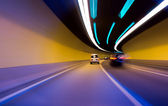 Car moving in tunnel -Abstract View — Stock Photo