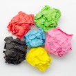 Stock Photo: Colorful lump torn paper