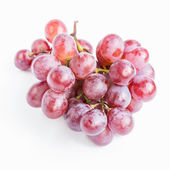 Czerwone winogrona na białym tle — Zdjęcie stockowe