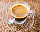 Café em vime de madeira — Fotografia Stock