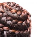 Side view image of beautiful braid hair — Stock Photo #31838041