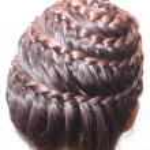 Back view image of beautiful braid hair — Stock Photo #31838983