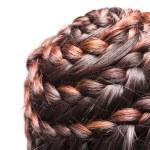 Side view image of beautiful braid hair — Stock Photo #31843219