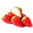 Stock Photo: Strawberry isolated on white background with shadow