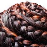 Side view image of beautiful braid hair — Stock Photo #31846541