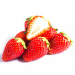 Strawberry isolated on white background with shadow — Stock Photo