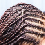 Side view image of beautiful braid hair — Stock Photo #31851445