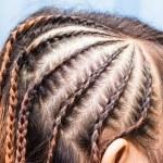 Side view image of beautiful braid hair — Stock Photo #31852069