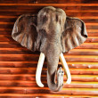 Ancient wood carving elephants — Stock Photo #31878721