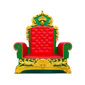 Luxury red leather armchair isolated on white background — Stock Photo