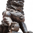 Chinese Imperial Lion Statue, Isolated on white background with — Foto Stock
