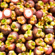 Tropical Fruit,Mangosteen Queen of fruit in Thailand — Stock Photo