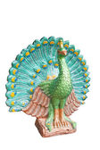 Peacock statue isolated on white background,with clipping path — Zdjęcie stockowe