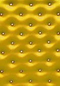 Golden leather pattern with knobs,Texture for Background — Stock Photo