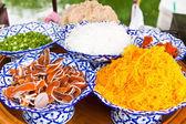 Ingrédient de natif style thaï de crêpes croustillantes — Photo