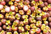 Frutas tropicales, reina del mangosteen de frutas en Tailandia — Foto de Stock