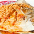 Fried fish with sauce,sour and spicy on white plate,Thai style f — Stock Photo #31994087