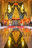 Golden buddha in thai temple,Loei Province,Generality in Thailan — Stock Photo