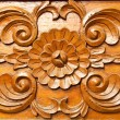 Thai style wood carving — Stock Photo