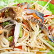 Thai papaya salad with  horse crab — Stock Photo