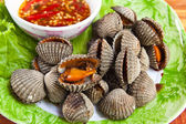 Tarak ızgara, tay tarzında deniz ürünleri — Stok fotoğraf