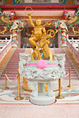 Sculpture of kid Naja in Chinese Temple,East of Thailand — Stock Photo