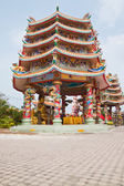 Part of beautyful Chinese shrine and the blue sky, Chonburi- Eas — Stock Photo