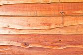 Karabinerhaken an der hölzernen wand — Stockfoto