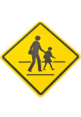 The School crossing Sign isolate on white background — ストック写真