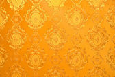 Old gold wallpaper : Traditional Thai style — Stock Photo