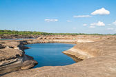 The Amazing of Rock,Natural of Rock Canyon as pool in Khong Rive — Stock Photo