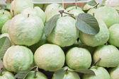 Frischen guaven mit grünes blatt — Stockfoto