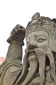 Temple guard statue in Thailand — Stock Photo