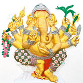 Indian or Hindu ganesha God Named Vighna Ganapati at temple in t — Stock Photo