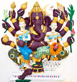 Indian or Hindu ganesha God Named Maha Ganapati at temple in tha — Stock Photo