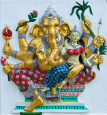 Indian or Hindu ganesha God Named Udhawa Ganapati at temple in t — Stock Photo