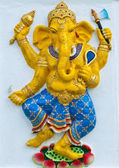 Indian or Hindu ganesha God Named Naritaya Ganapati at temple in — Stock Photo