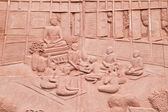 Native Thai art on low relief sculpture — Stock Photo