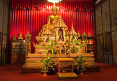 Buddha inside Thai Temple, Thailand. — Foto de Stock