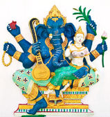 Indian or Hindu ganesha God Named Uchchishta Ganapati at temple — Stock Photo