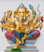 Indian or Hindu ganesha God Named Duraga Ganapati at temple in t — Stock Photo