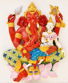 Indian or Hindu ganesha God Named Sankatahara Ganapati at temple — Stock Photo