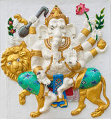 Indian or Hindu ganesha God Named Singha Ganapati at temple in t — Stock Photo