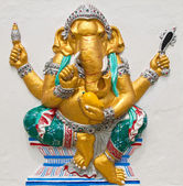 Indian or Hindu ganesha God Named Triaksara Ganapati at temple i — Stock Photo